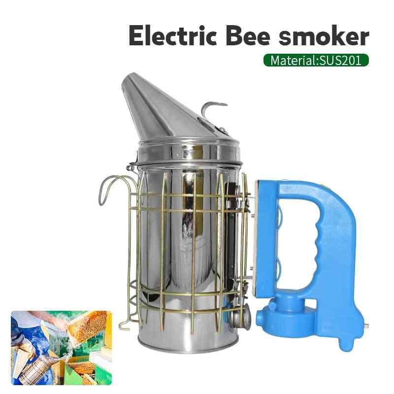 Stainless Steel Electric Bee Smoke Transmitter Kit Electric Beekeeping Tool Apiculture Beekeep Tools Bee Smoker