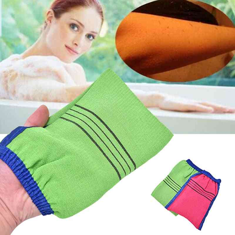 Two Sided Shower Spa Exfoliator - Bath Glove For Body Cleaning Scrubbing - Dead Skin Removal Magic Peeling