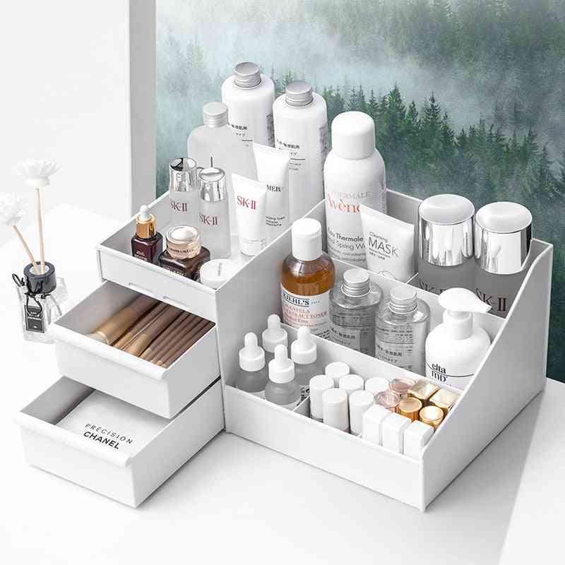 Large Capacity Makeup Organizer Storage Box For Cosmetic