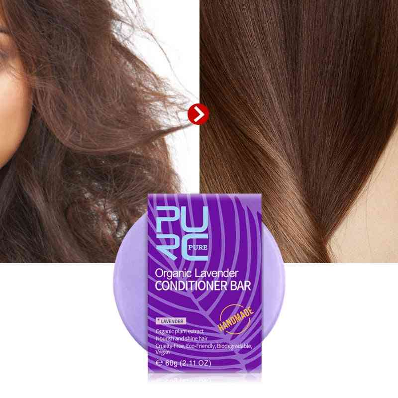 Handmade Lavender Hair Conditioner Bar - Deep Organic Hair Conditioner Soap