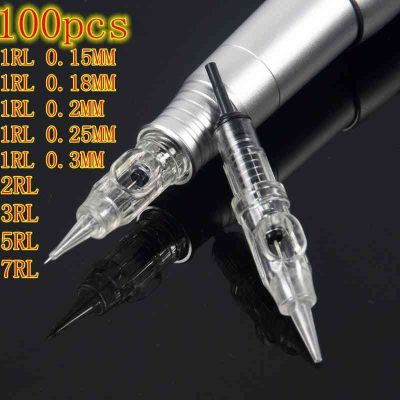 Disposable Sterilized Permanent Makeup, Cartridge Needles Tips For Eyebrow Lip