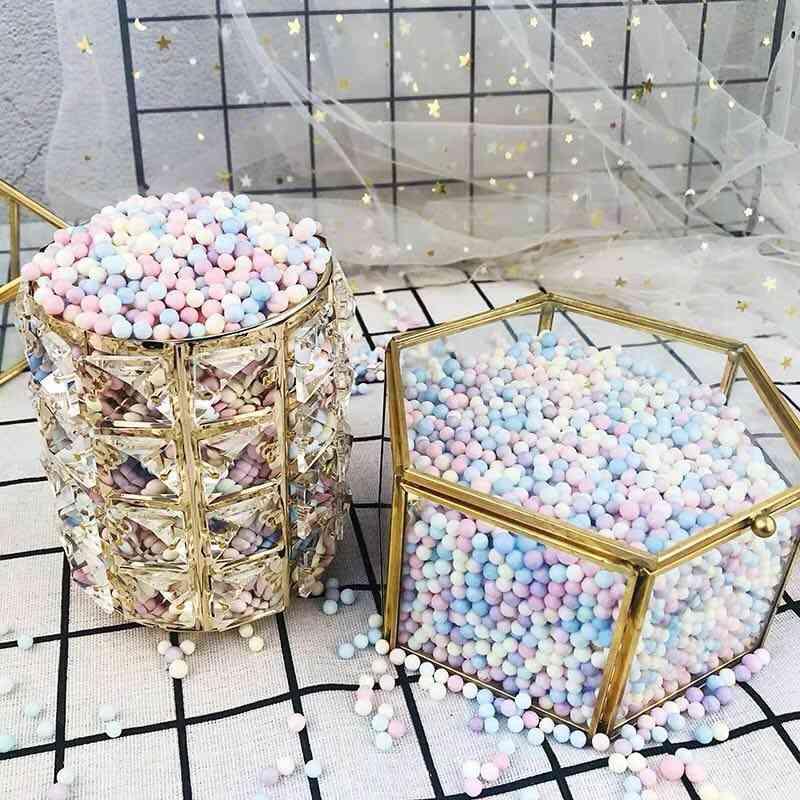 Sweet Color Round Foam Ball - Diy Handmade Slime Material Box Makeup Bucket Filling