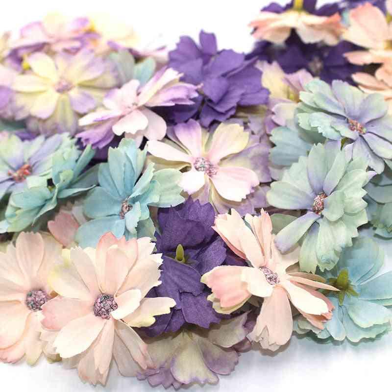 Mini Silk Artificial Daisy Head Flower Decoration For Home Wedding Party