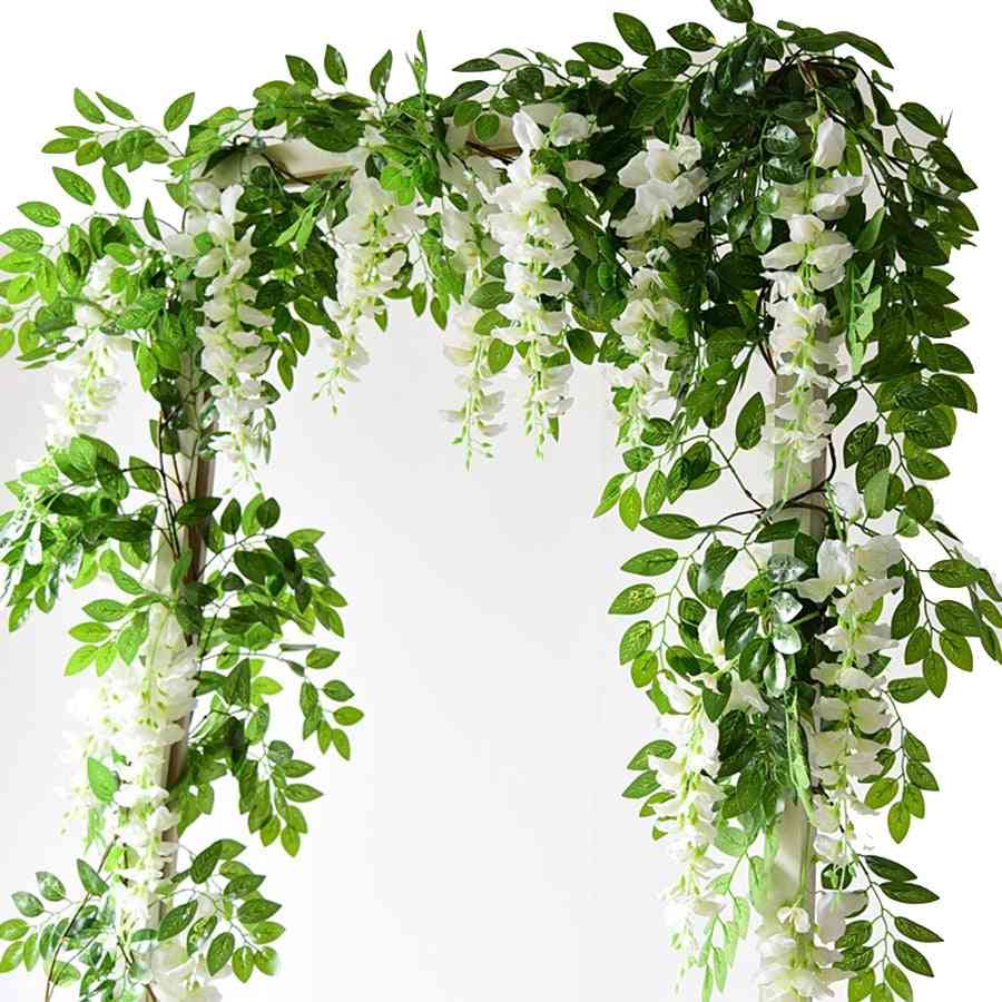 Artificial Wisteria Flowers-garland For Wedding And Decoration