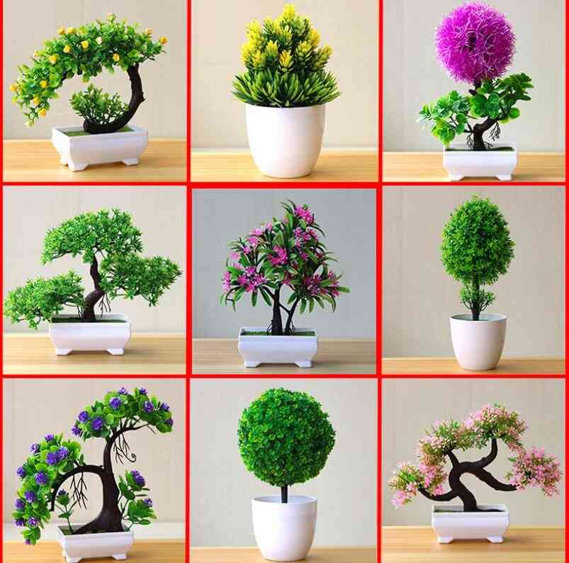 Artificial Bonsai Pot Plants-ornaments For Home And Decoration