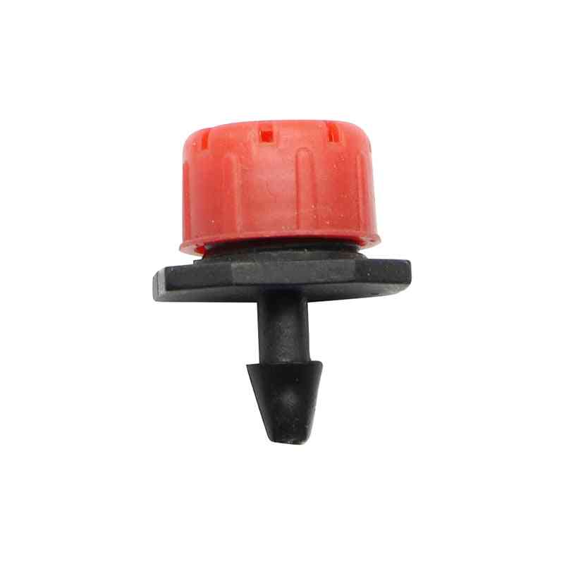 Adjustable Dripper Red Micro Drip Irrigation Watering Anti Clogging Emitter Garden Supplies For 1/4 Inch Hose