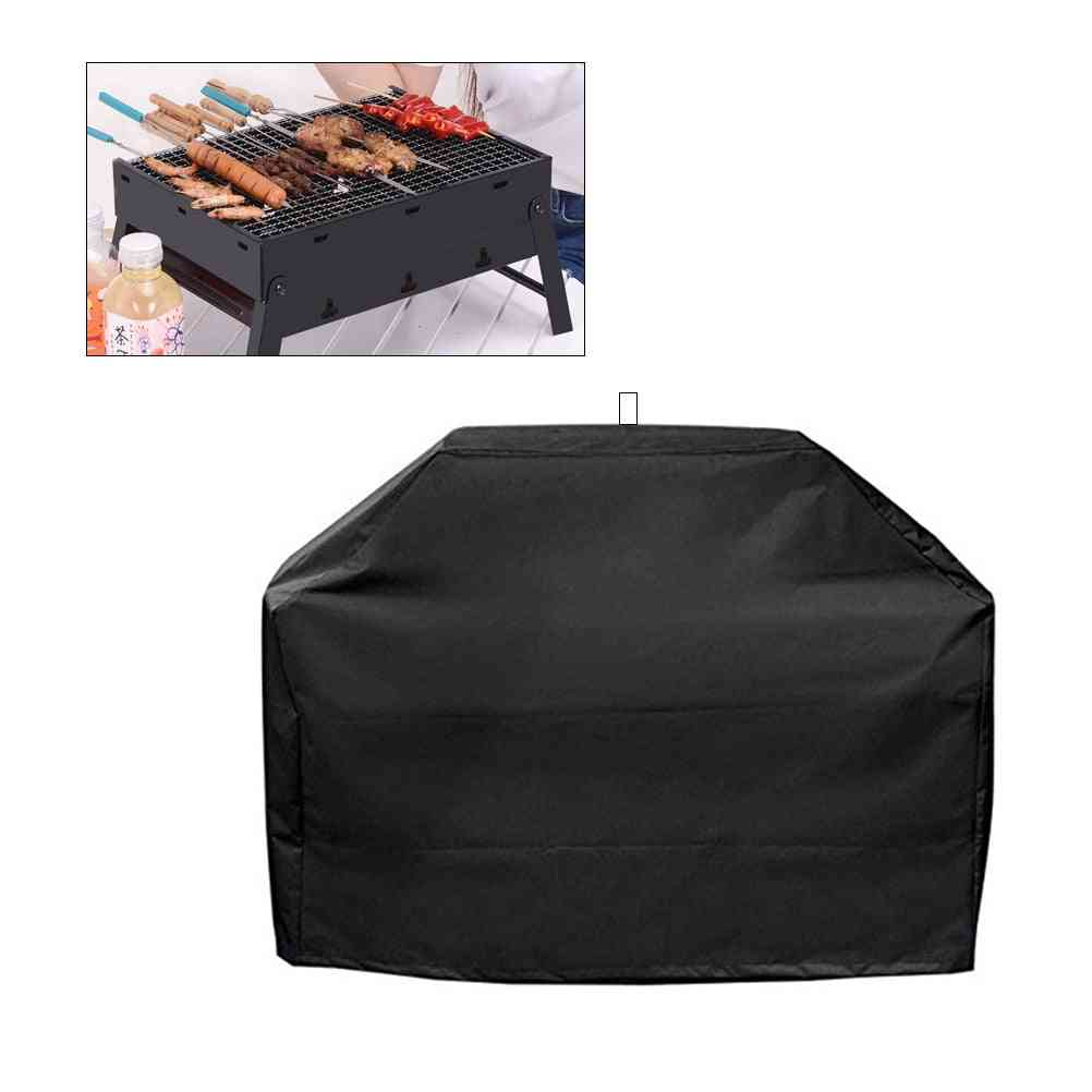 Bbq Grill Cover Waterproof Heavy Duty Patio Outdoor Oxford Barbecue Smoker Grill Cover Outdoor Barbecue Hood
