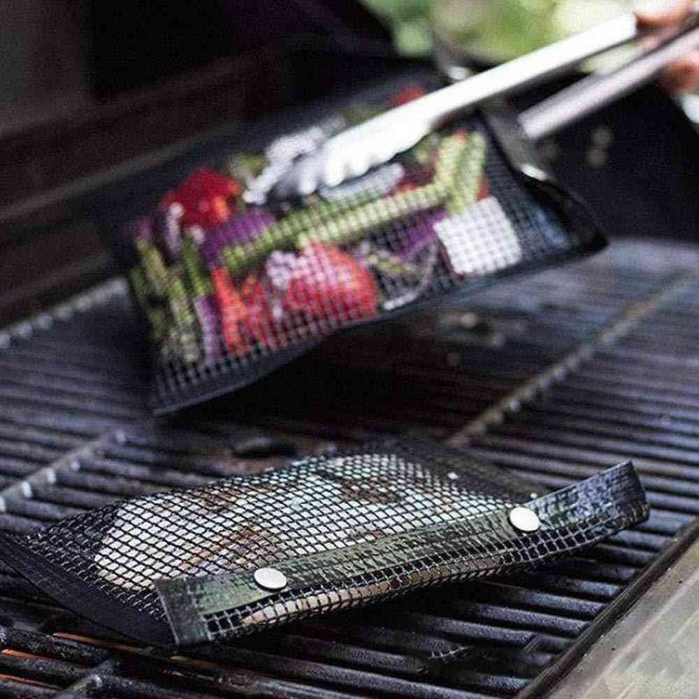 Bbq Bake Bag Mesh Grilling Bag Non-stick Reusable Easy To Clean Outdoor Bbq Picnic Tool Kitchen Tools