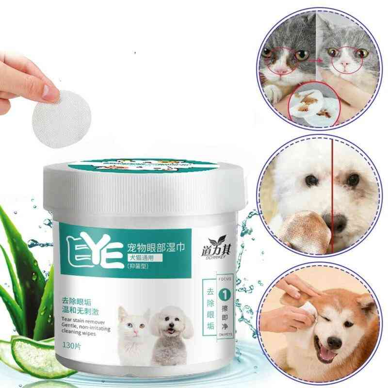 Pet Eye Wet Wipes Dog Cat Pet Cleaning Wipes Grooming Tear Stain Remover Clean Wet Towel
