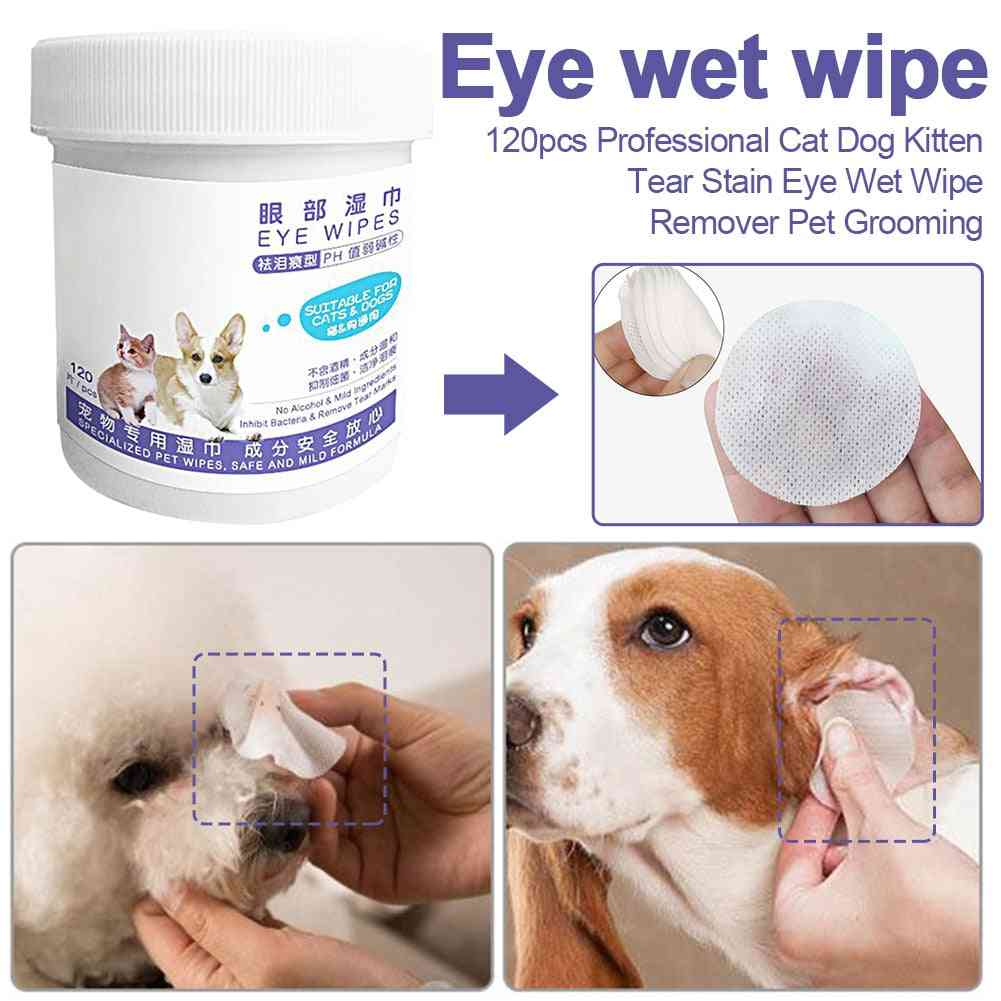 Stain Safe Cleaning Cat Dog Towel Kitten Portable Pet Grooming Non-intivating Eye Wet Wipe