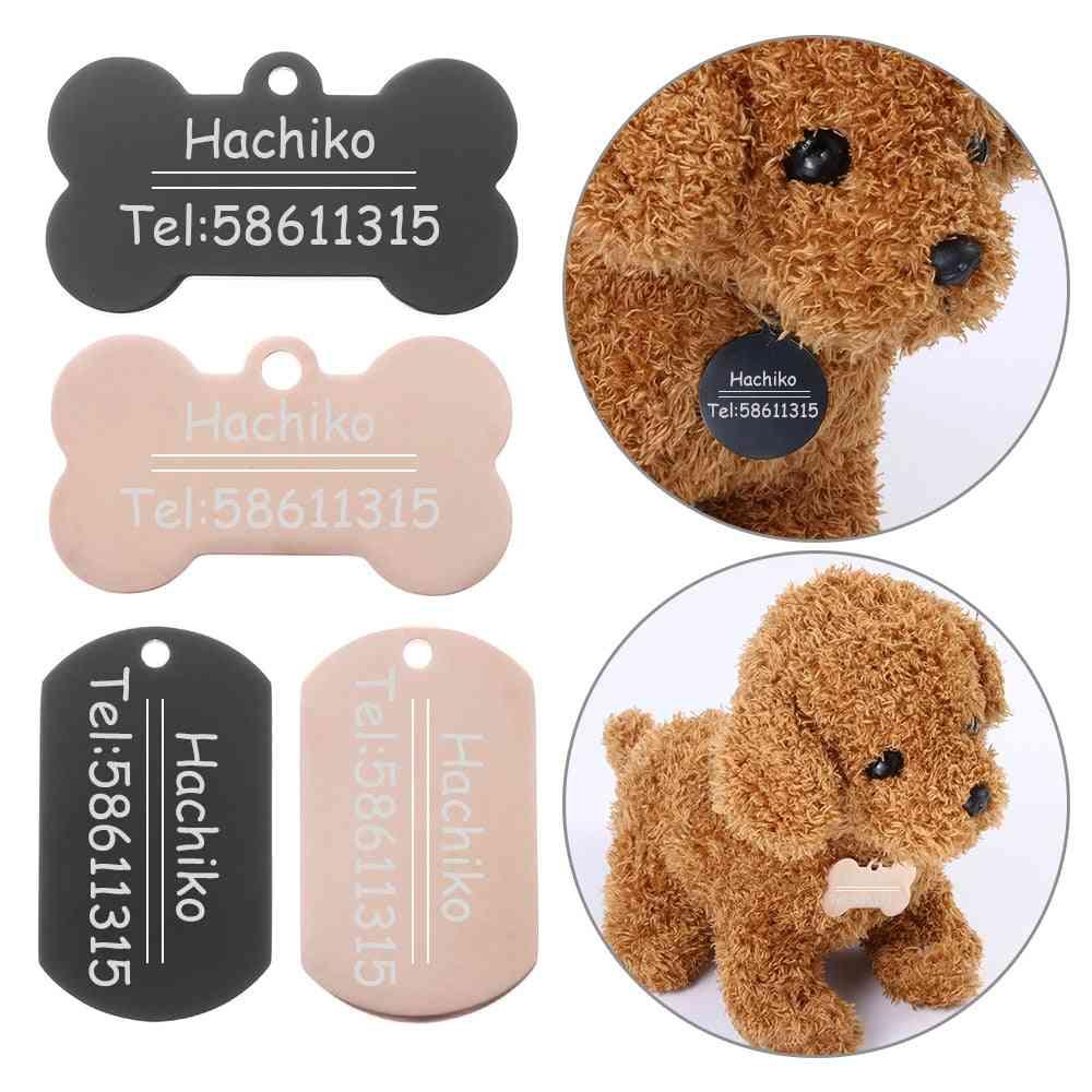 Stainless Steel Animal Tags For Dog Collar Baling