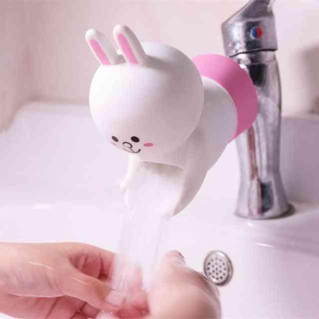 Cartoon Silicone Water Saving Faucet Extender - Washing Hand Help Water Tap Extender