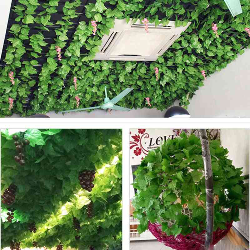 Artificial Plants Creeper Green Leaf Ivy Vine For Home, Wedding Decor, Diy Hanging Garland Artificial Flowers