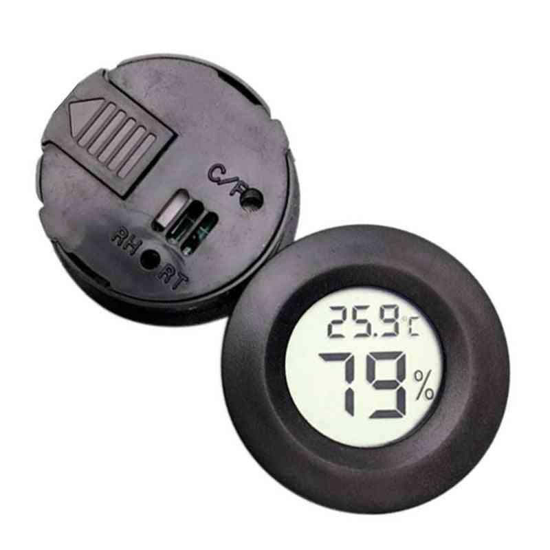 Digital, Round Hygrometer Thermomete- Lcd Display