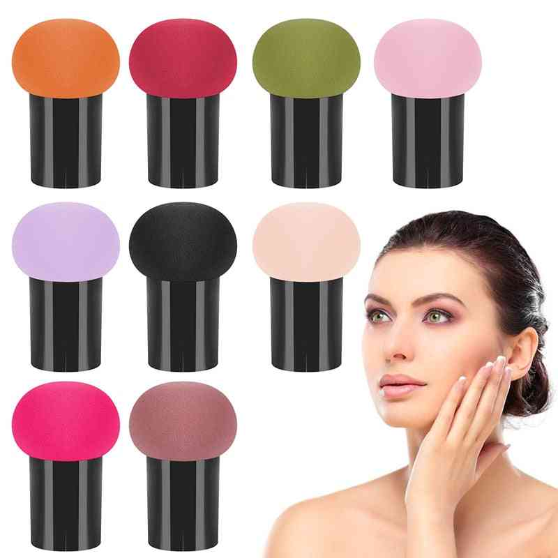 Professional Makeup Puff For Foundation , Liquid Cream Sponge - Mushroom Shape Cosmetic Puff Sponge