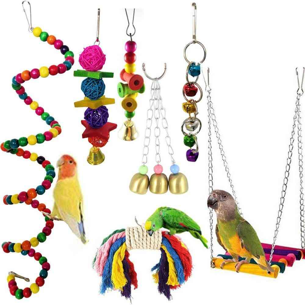 Bird Rope Braided Pet Parrot Chew Rope, Toy Pet Birds Training Accessories