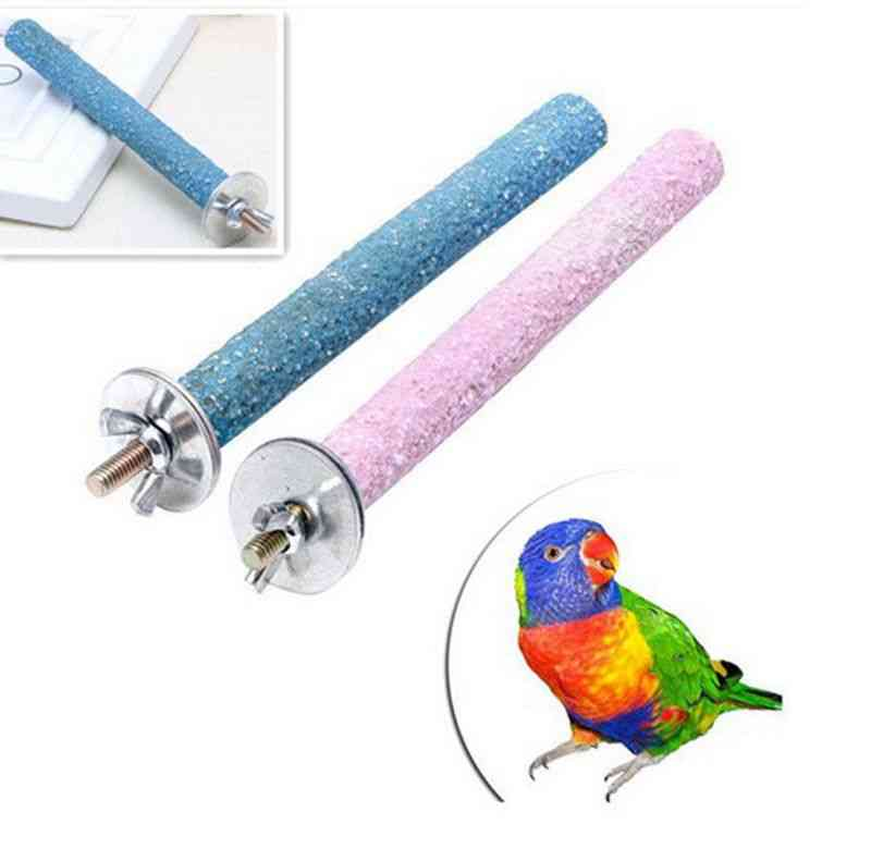 Bird Claw Beak Grinding Bar Standing Stick Parrot Station Pole Bird Supplies, Parrot Grinding Stand Claws Cage Accessories