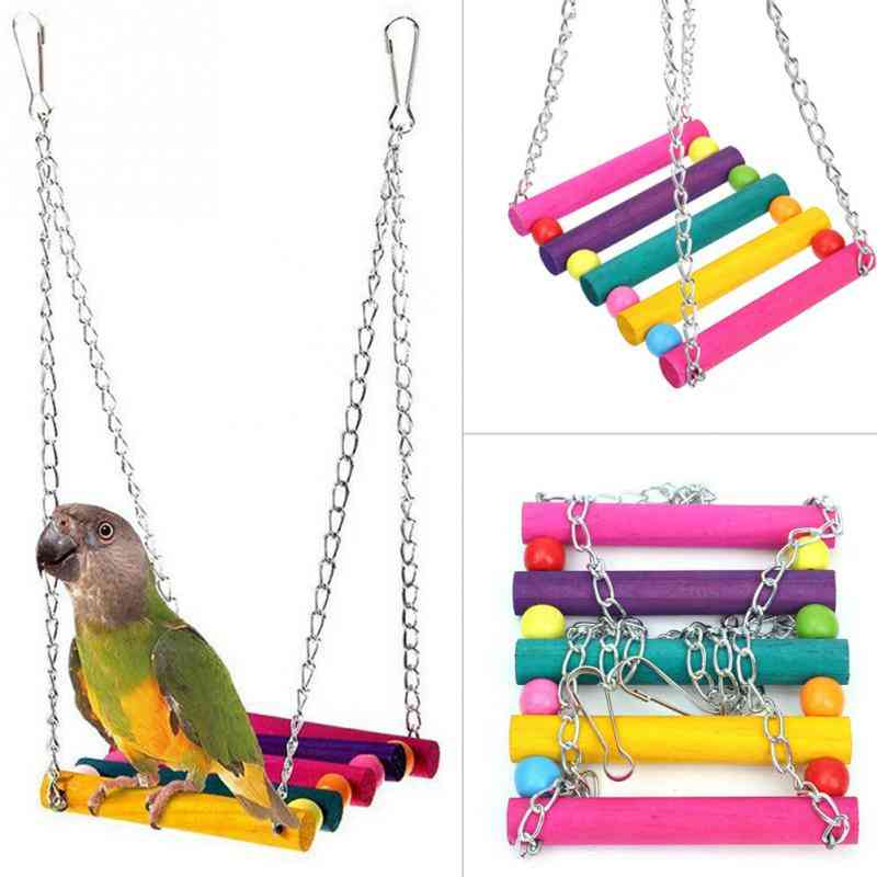 Hanging Swing Toy For Pet Birds Like Parrots,  Parakeets, Cockatiels,macaws, Finches And Many More