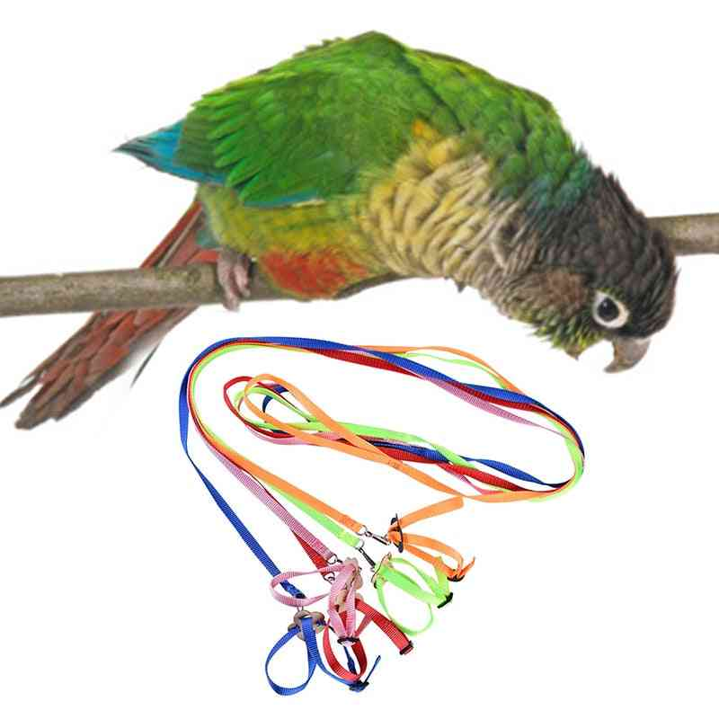 Parrot Train Leash 1cm Wide Adjustable Polyester Harness Anti Bite Rope For Bird Small Pet Products