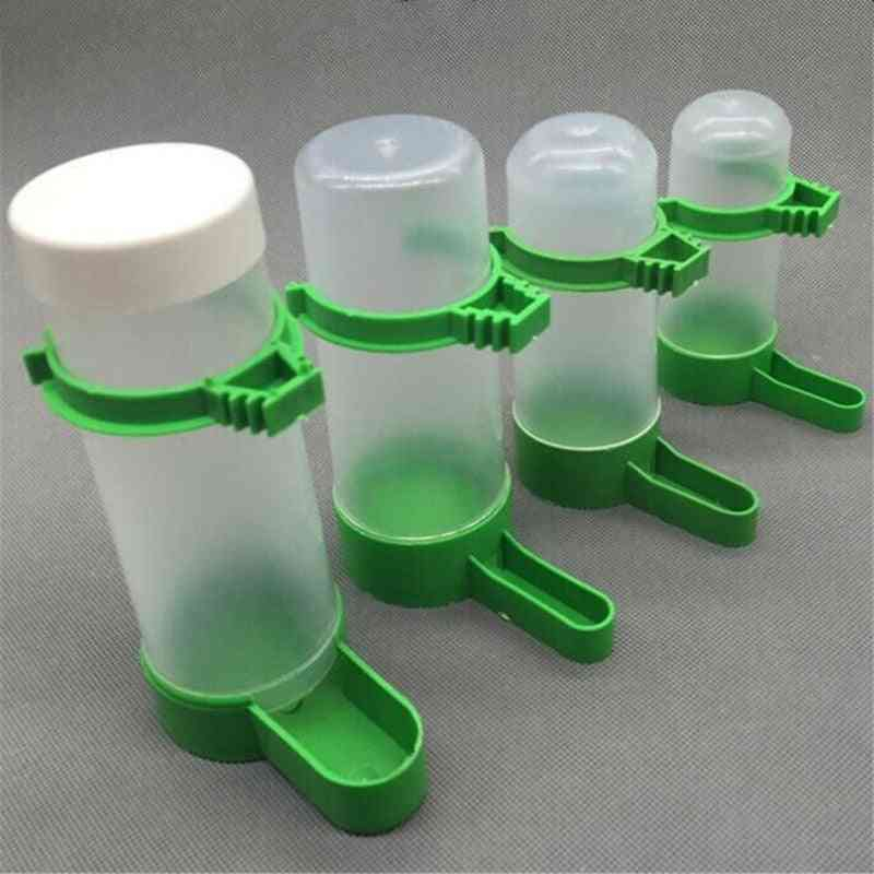 Water Drinker Feeder With Clip For Pet Birds