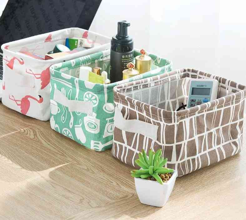 Multifuctional, Printed And Waterproof Storage Basket For Home