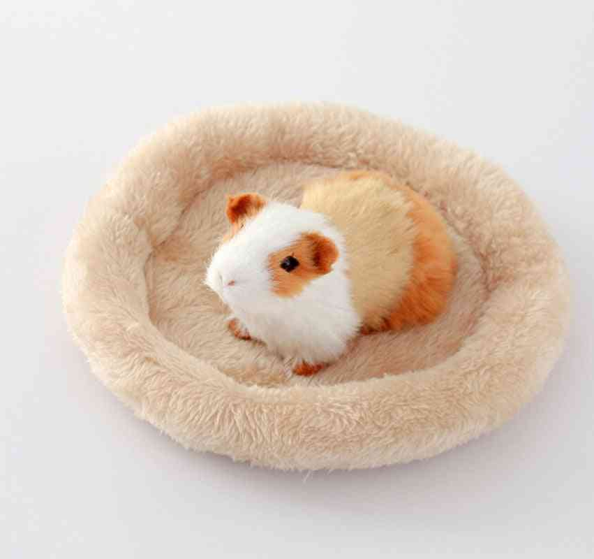 Pet Hamster Sleeping Bed Dog Soft Fleece Guinea Pig Bed Winter Pet Supplies, Small Animal Cage Mat