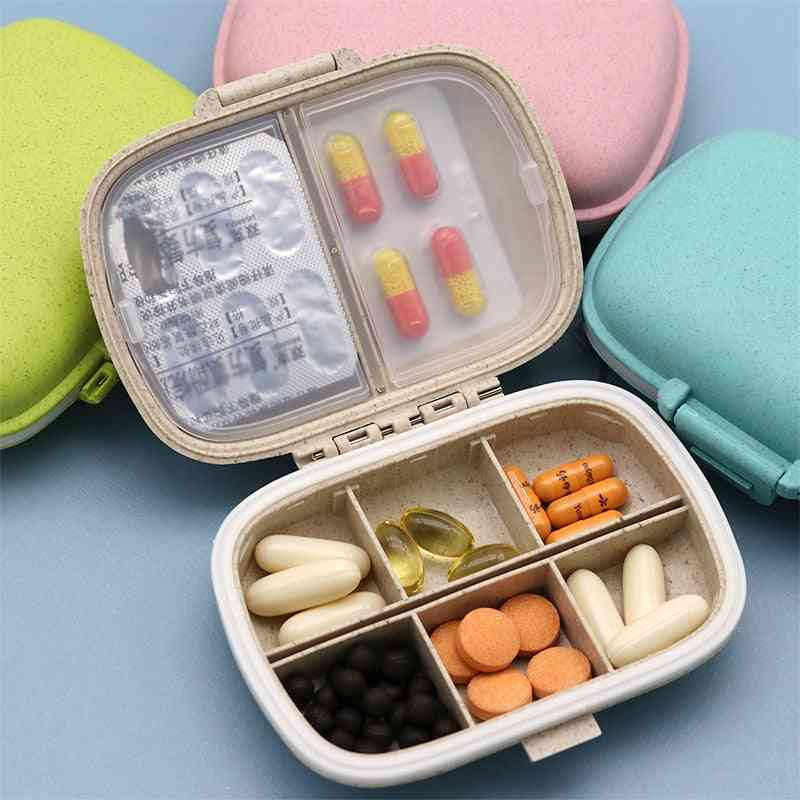 Grids Organizer Container For Tablets, Travel Pill Ox With Seal Ring For Medicines