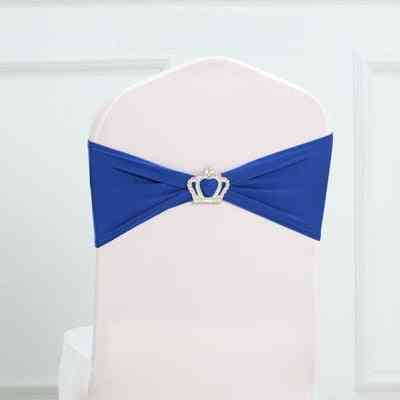 Bow Tie Design, Chair Sash With Royal Crown Buckles For Wedding Decoration