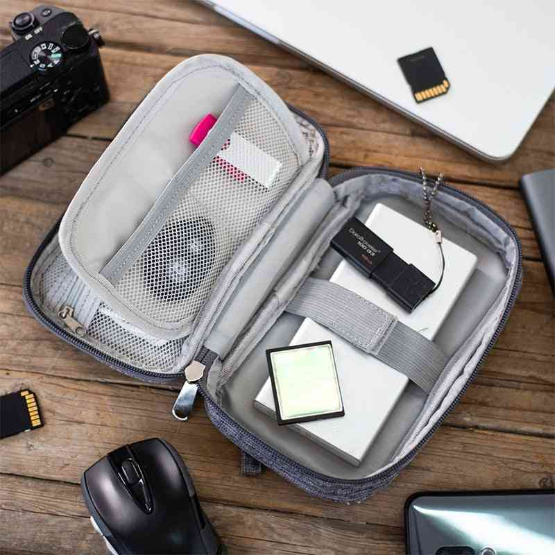 Portable Electronic, Wires, Charger, Digital Usb Gadget Cable Storage Zipper Bag Organizer