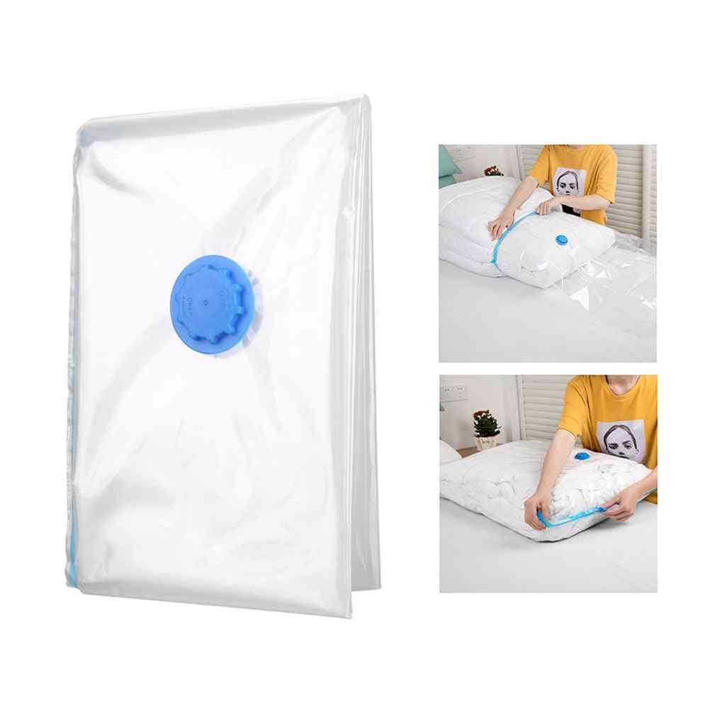 Premium Space Saver Anti Pest Foldable Wardrobe Vacuum Storage Bag For Blanket, Clothes, Quilt Organizer