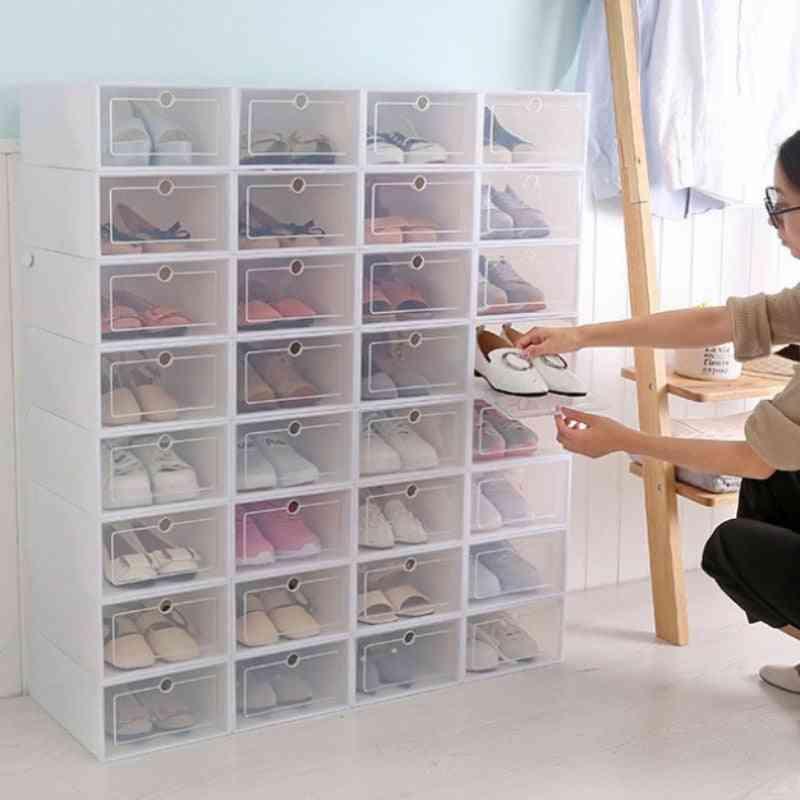 1pcs Shoe Box Drawer Organizer - Household Diy Shoes Drawer Divider/organizer, Plastic Foldable Shoes Box