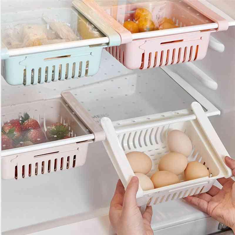 Kitchen Storage Rack - Sponge Cake Drawer/shelf Container Shelf, Retractable Refrigerator Form Finishing Space Saver Storage