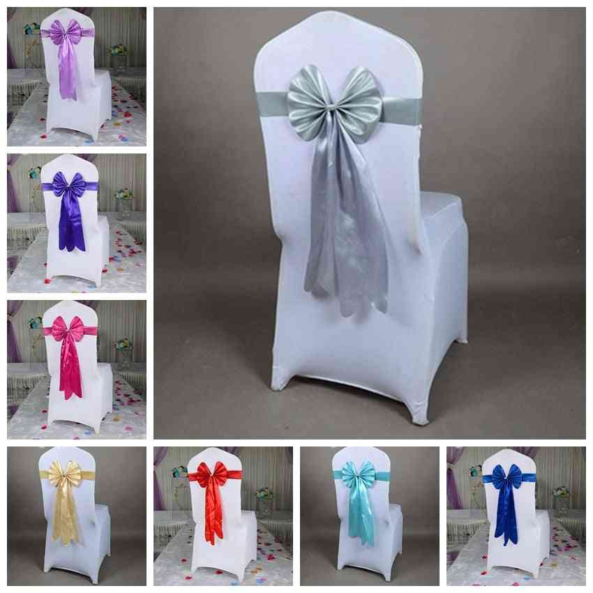 Ready-made,  Long Tail, Butterfly Design Sash For Wedding Chair Decoration