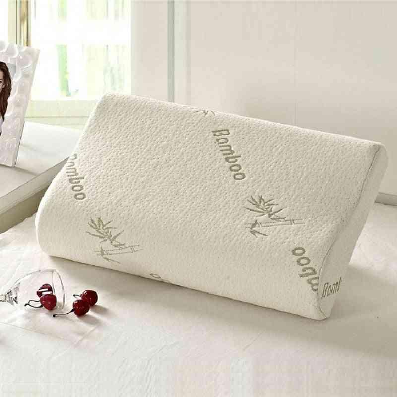 Sleeping Bammbo Memory Orthopedic Latex Neck Pillow Massager