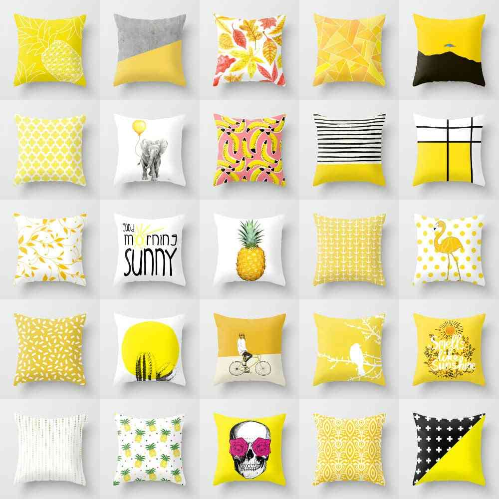Removable And Washable, Printed Cuhion Cover For Home And Bedroom Decor
