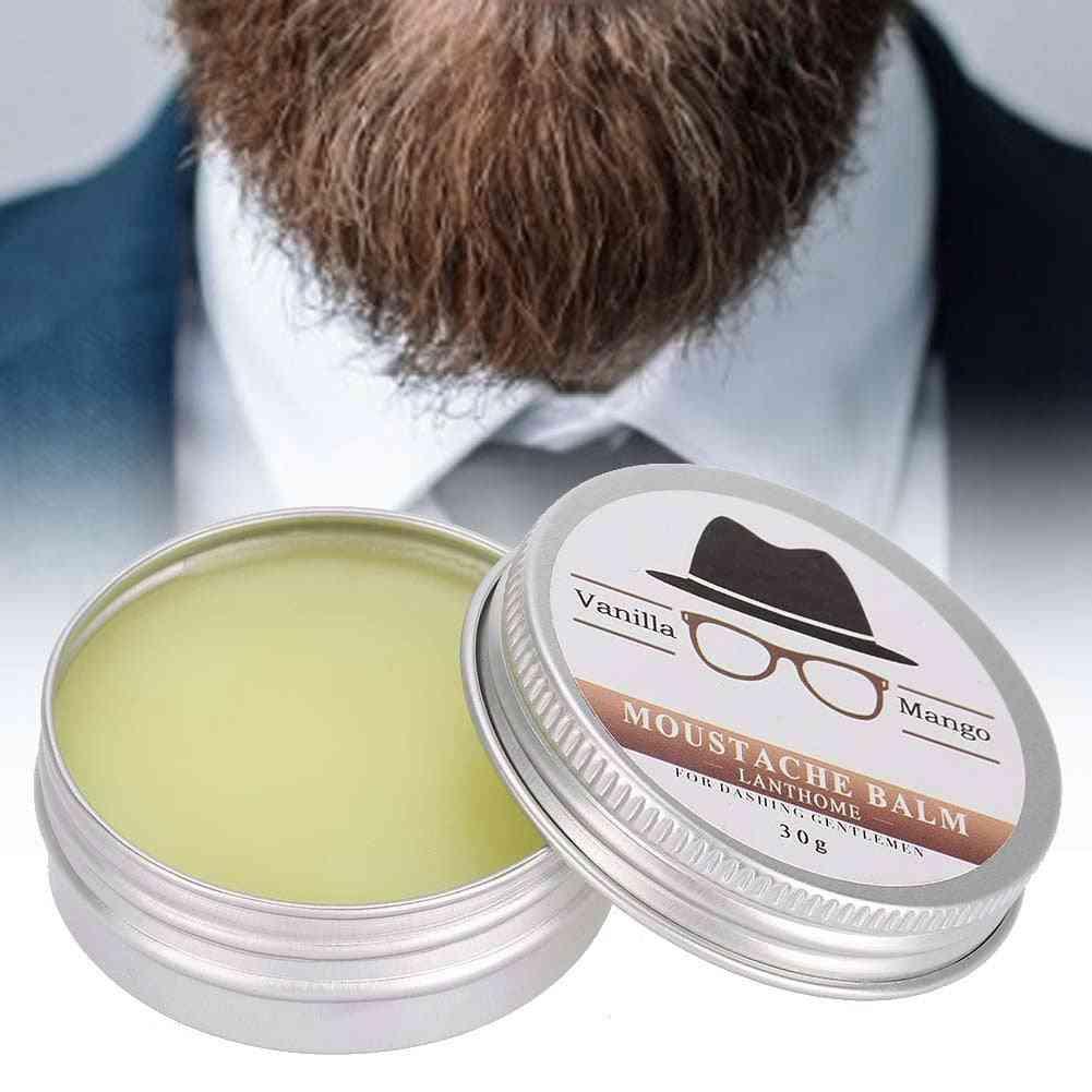 Mens Beard Grooming Wax Mustache Moisturizing Wax For Beard Smooth Styling Shaving Care