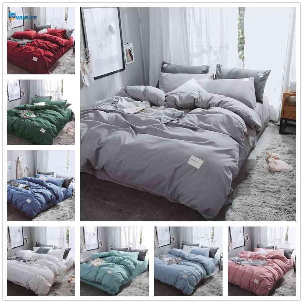 New Luxury Pure Bedding Set - Modern Duvet Twin Bedsheet Covers