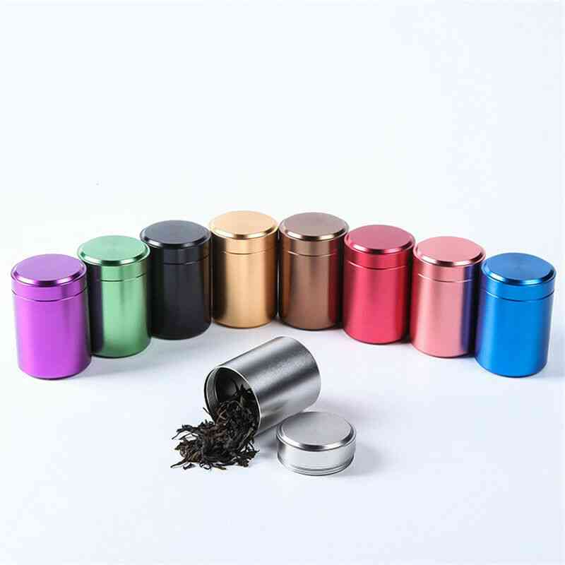 Colorful Aluminum Airtight Smell Proof Container - Herb Stash, Tea Jar Sealed Can