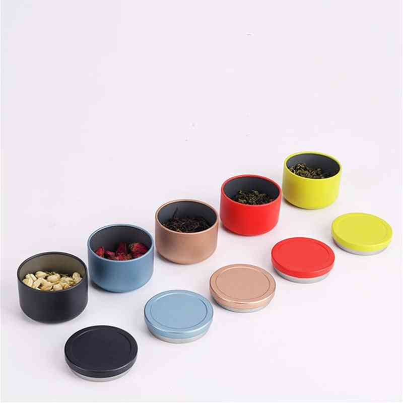Travel Portable Sealed Metal Storage Cans 95ml - Creative Tea, Candy, Biscuits, Cookie Storage Cans Tin Box