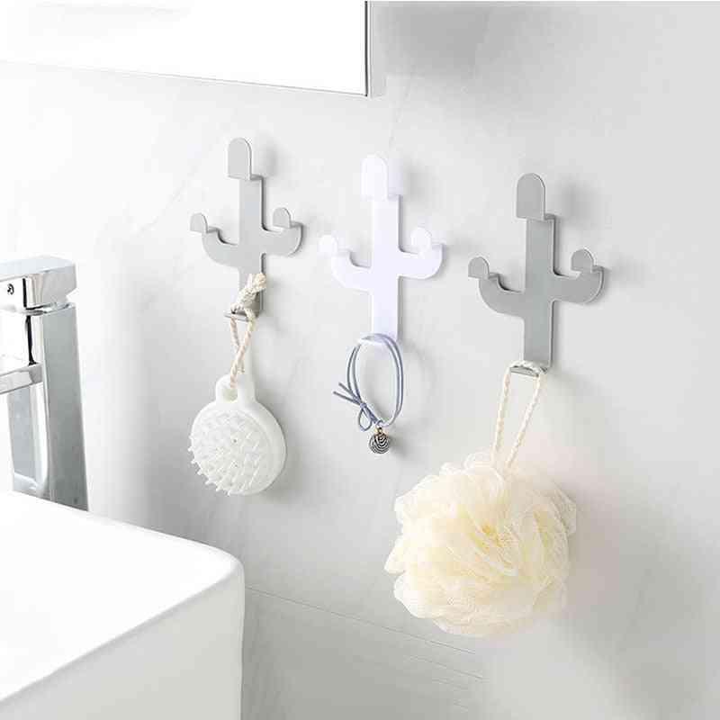 Cactus Shaped Self Adhesive Hooks - Clothing Display Racks Key Holder, Cap, Coat Hanger Room Decor Wall Hook