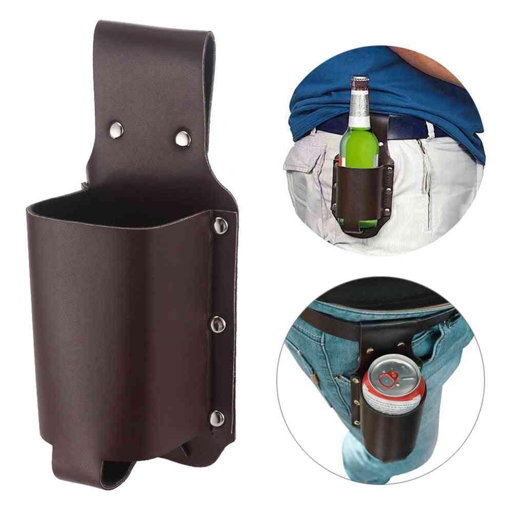 Portable Bottle Waist Belt Beer Holster - Handy Wine Bottles Beverage Can Holder