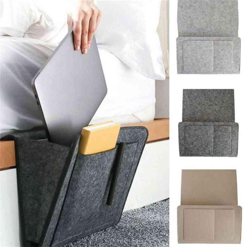 Felt Bedside Hanging Caddy Storage Organizer - Bed, Sofa Organizer Pockets