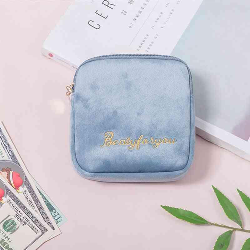 Women Sanitary Napkin, Baby Diaper Storage Bag - Makeup Storage Bag, Coin Purse, Jewelry Organizer, Credit Card Pouch Case