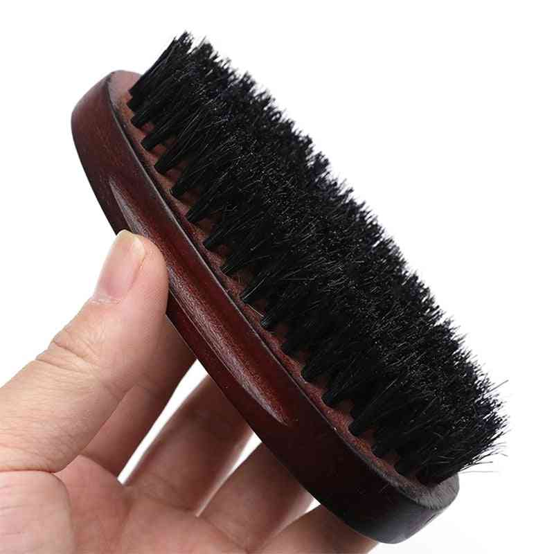Natural Hemu Beard Brush Bamboo Face Massage