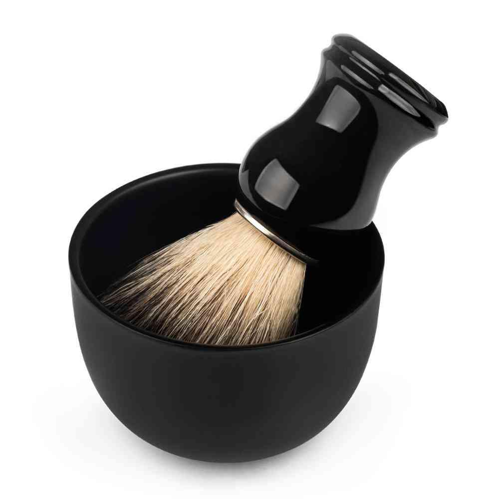 Stainless Steel Shaving Soap Bowl Safety Razor Classic Brush Stand For Shaving Cream