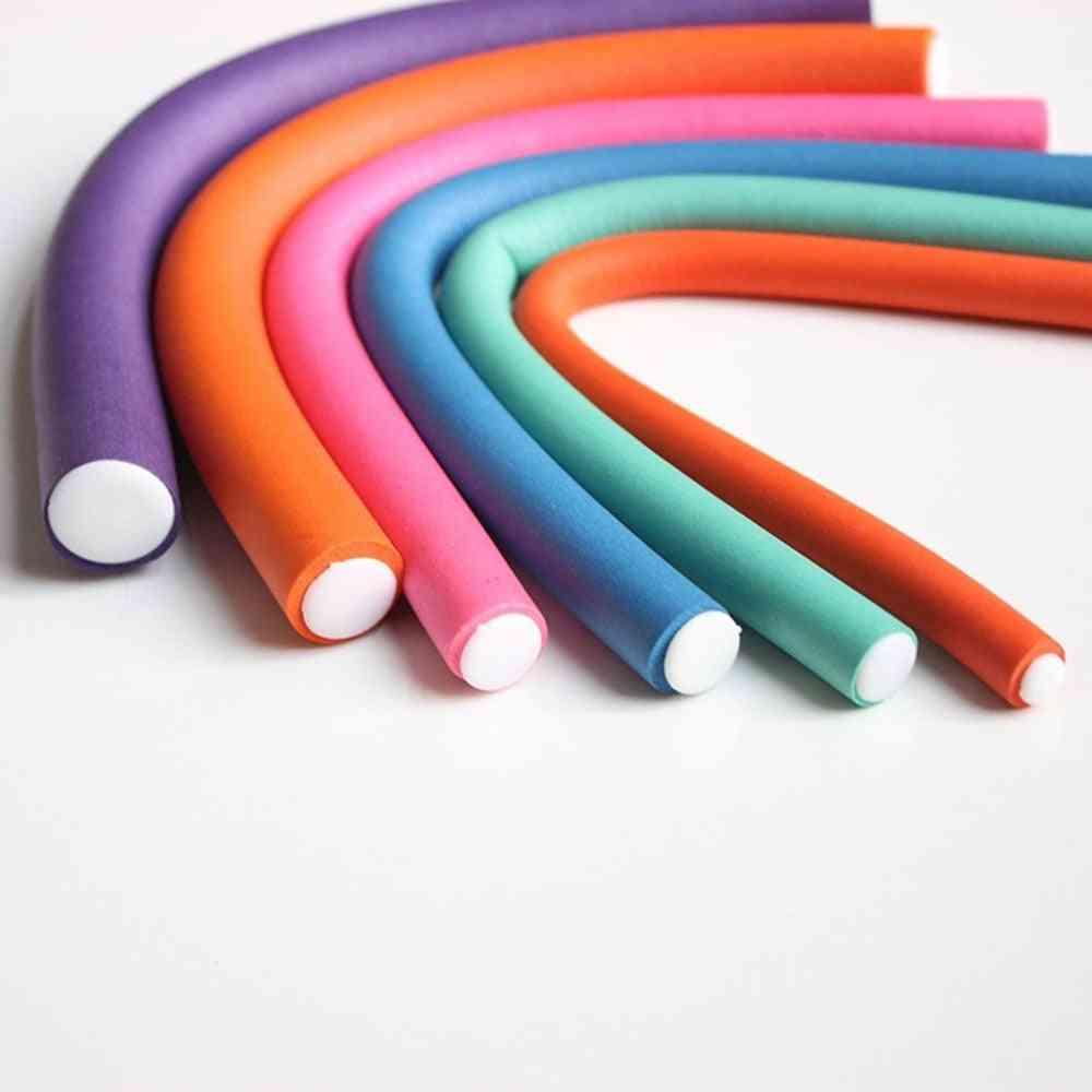 10pcs/lot Curler Makers - Soft Foam Bendy Curls Diy Styling Hair Rollers Tool