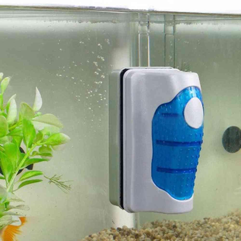 Magnetic Aquarium Fish Tank Brushes, Floating Clean Glass- Window Algae Scraper
