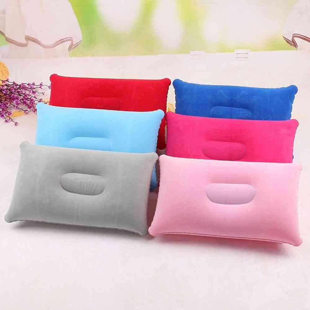 Convenient Ultralight Inflatable Pvc Nylon Air Pillow Sleep Cushion For Travel