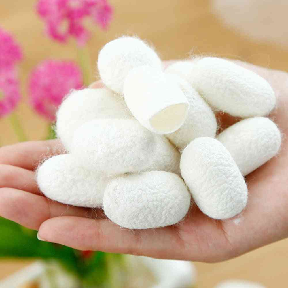 Fresh And Natural Silkworm Cocoons Ball For Facial Cleansing, Skin Whiten And Massage