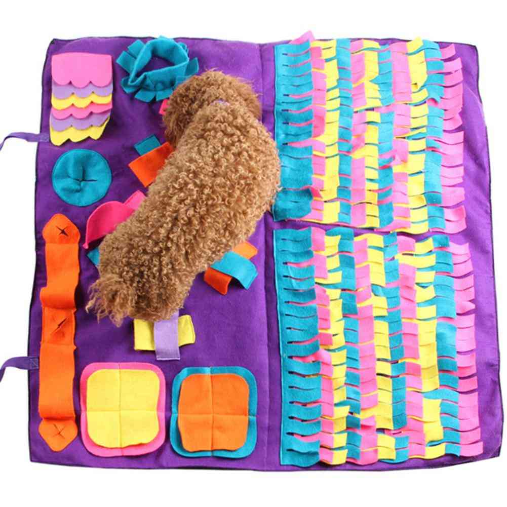 Pet Dog Snuffle Mat Sniffing Training Blanket, Detachable Fleece Pads, Dog Mat Relieve Stress